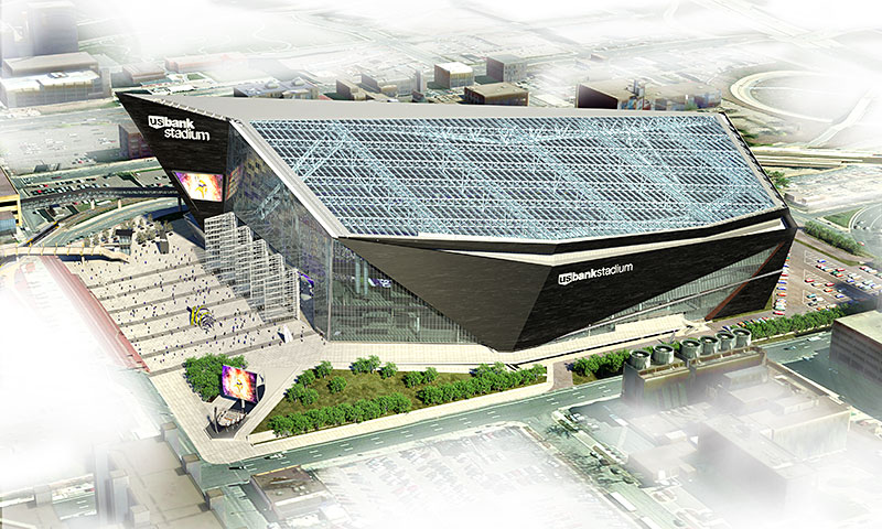 US Bank Stadium Overhead Rendering